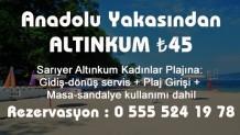 2017 Sezonu Anadolu Yakasından Altınkum Bayanlar Plajı Servis ücreti